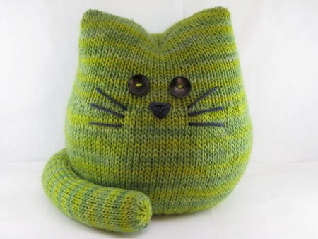 Cute Amigurumi Knitting Patterns : Pickles the cat pattern amigurumi softie knitting pdf pattern