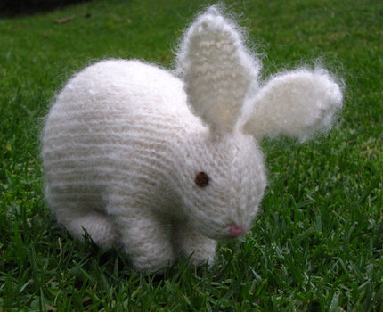 Beret Hat Knitting Pattern : Easter Bunny Rabbit Knitting Pattern, PDF - Mamma4earths Shop - Craftfoxes