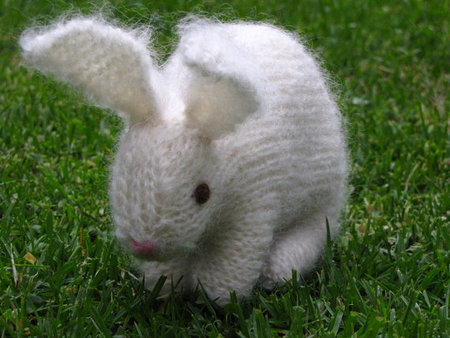 Knitting Patterns For Pet Rabbits : Easter Bunny Rabbit Knitting Pattern, PDF - Mamma4earths Shop - Craftfoxes