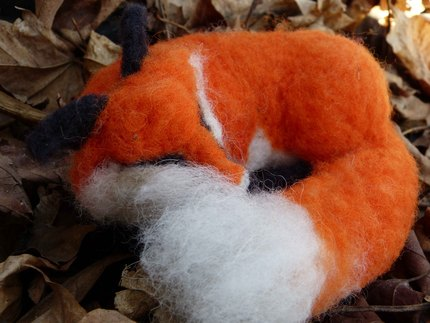 Handmade Needle Felted Foxes