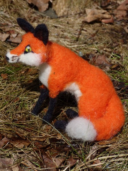 handmade needle felted foxes - nature felted u0026 39 s shop