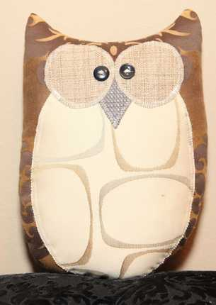Abraham The Owl Handmade from Upcycled Fabrics