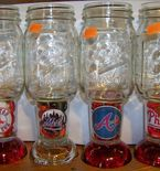 Customized team Mason jar glasses