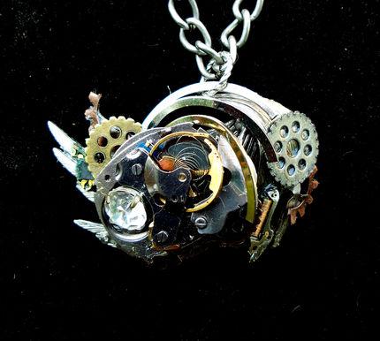Steampunk Swirl Necklace