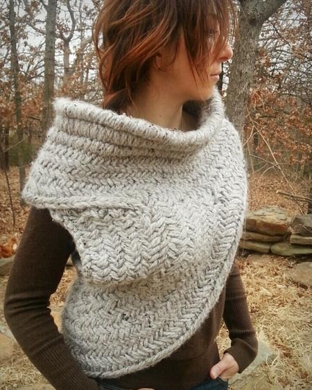 Katniss Inspired Cowl Knitting Pattern : Katniss Hunting Cowl with Vest - PDF knitting pattern only - woolfsclothing