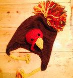 Tom Turkey Earflap Hat Knitting Pattern .pdf - Funny Thanksgiving or Fall Themed Hat