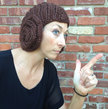 Princess Leia Bun Hat - knitting pattern for cap with earflap buns that looks like a Leia wig - funny and warm costume headgear