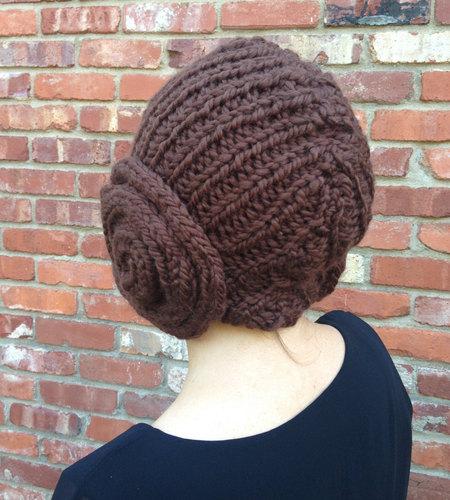 Princess Leia Bun Hat - knitting pattern for cap with earflap buns ... e13e8780e48