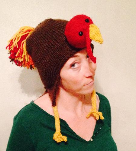 Tom Turkey Earflap Hat Knitting Pattern Pdf Funny