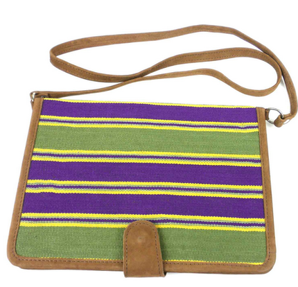 Purple and Green iPad Carrying Case