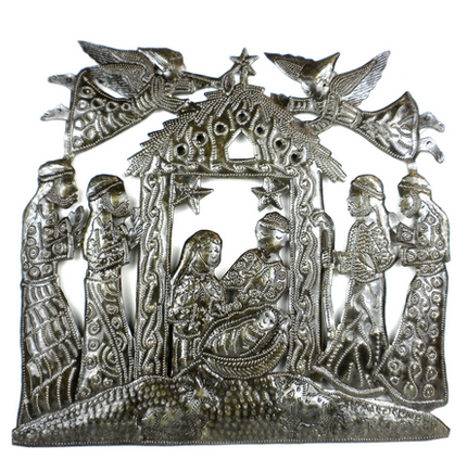Haitian Steel Drum Nativity Scene