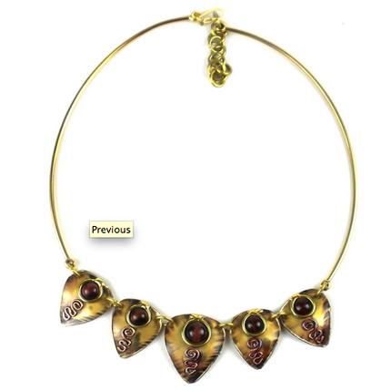 Red Tiger Eye Arrow Necklace