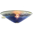 Chilean Handmade Artisan Glass Shell Wall Sconce in Blue