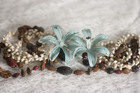 Shell and Flower Double Hair Barrette