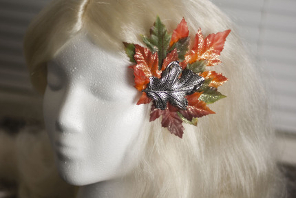 Fall Leaves Glitter Hair Barrette