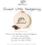 Sweet Little Hedgehog . PDF Instant Digital Download  Woodland Embroidery Pattern ePattern .