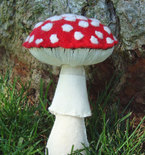 Amanita Muscaria Mushroom Woodland Forest  Mycology Sculpture Plush