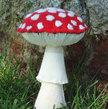 Amanita Muscaria Mushroom Woodland Forest  Mycology Sculpture Plush