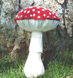 Amanita Muscaria Mycology Plush Soft Sculpture Forest Mushroom Plush