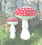 Mycology Plush Limited Edition Plush Fabric Sculpture Set - Agaric Daddy and Child Mushrooms