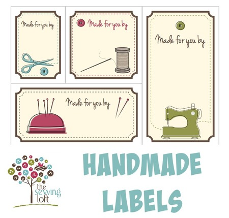 handmade labels for sewing handmade labels the sewing loft s shop craftfoxes 7343