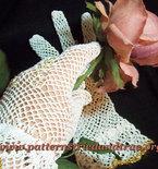 Crochet Pattern DIY for Lady's mesh Gloves, Scrapbooked Digital Instant Download PDF File