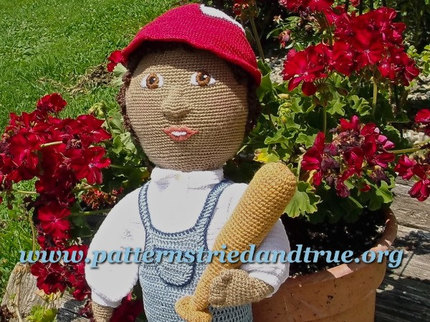 Crochet Pattern DIY for Baseball Outfit for Boy Doll Scrapbooked Digital  Instant Download PDF File