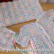 Crochet Pattern DIY for Baby Layette: Hat, Sweater, Booties, Blanket, Scrapbooked Digital Instant Download PDF File