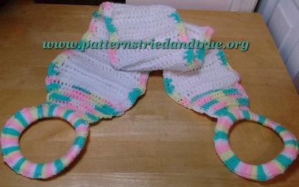 Crochet Pattern DIY  Spa Day Back Scrubber, Great for Sensitive Skin Scrapbooked Digital Instant Download PDF File