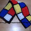 Easy Crochet Pattern DIY Like Lego Scarf