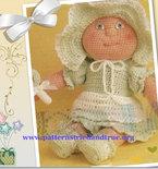Crochet Pattern DIY for Baby Doll, Child Safe Scrapbooked Digital Instant Download PDF File  Heirloom Keepsake