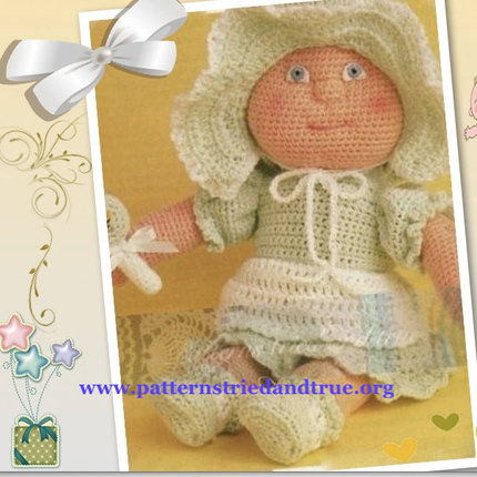 Crochet Pattern DIY for Baby Doll, Child Safe Scrapbooked Digital Instant Download PDF File  Heirloom Keepsake
