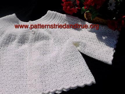 Crochet Pattern DIY  Bed Jacket Feminine and Elegant, Scrapbooked Digital Instant Download PDF File