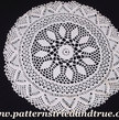 Crochet Pattern DIY Round Doily with beads, Scrapbooked Digital Instant Download PDF File