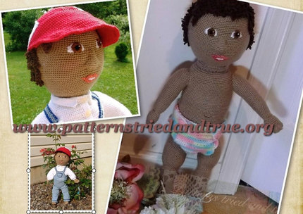 Crochet Pattern DIY Baby Doll, Realistic  Look, Scrapbooked Digital  Instant Download PDF File