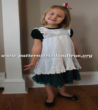 Crochet Pattern DIY Pinafore (Apron)  for Little Girls, Scrapbooked Digital Instant Download PDF File