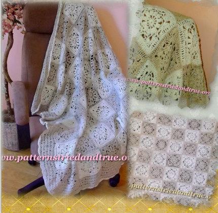Crochet Pattern DIY for Natural Fiber Lap Afghan  Scrapbooked Digital  Instant Download PDF File
