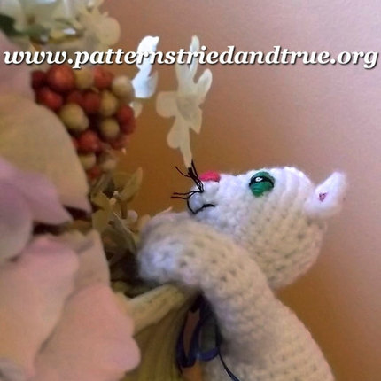 Crochet Pattern DIY for Hang In There Kitty Gift Tag, Scrapbooked Digital  Instant Download PDF File