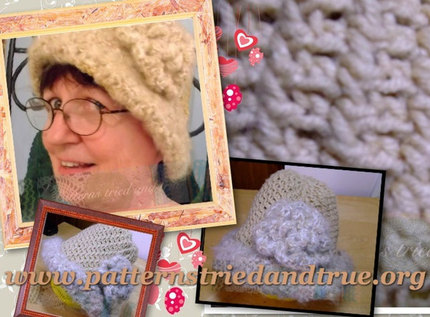 Crochet Pattern DIY for Ladies Hat for All Occasion, Scrapbooked Digital Instant Download PDF File Beginner Friendly