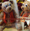 Crochet Pattern DIY for Jointed Teddy Bear, Scrapbooked Digital Instant Download PDF File