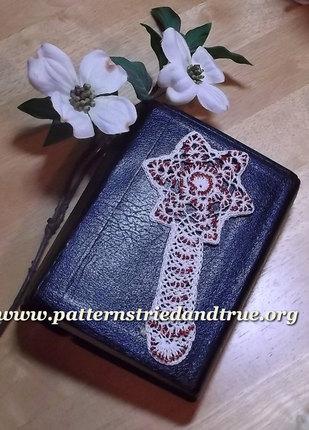 Crochet Pattern DIY Resurrection Cross Bookmark, Scrapbooked Digital Download