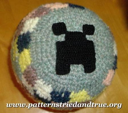 Crochet Pattern For Minecraft Creeper Beanie Scrapbooked Digital