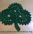 Crochet Pattern DIY  Irish Clover Pot Holder Scrapbooked Digital Instant Download PDF File