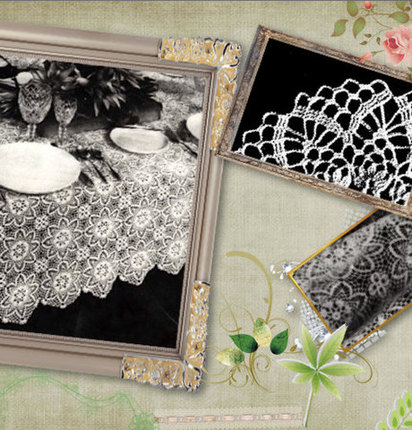 Crochet Pattern DIY for Elegant Tablecloth, Lace and very Classy , Scrapbooked Digital Crochet Pattern Instant Download