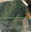 Crochet Pattern DIY for Afghan with Woven look in Green, Scrapbooked Digital Instant Download PDF File