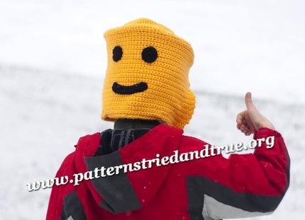 Crochet Pattern DIY Lego Man Hat