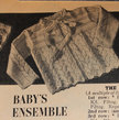 Vintage Knitting Pattern - Baby Jacket with Lace Pattern - 1950's original Baby Sweater - Part of Baby's Ensemble