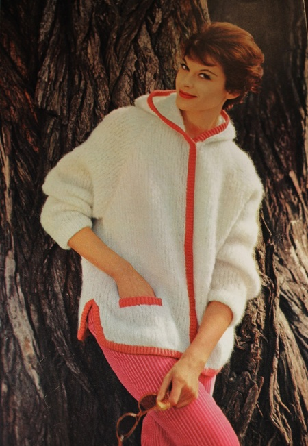 Vintage Knitting Pattern Women S Mohair Jacket With Hood 1960 S
