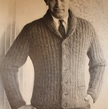 Hipster Vintage Knitting Pattern Men's Mohair Cardigan - Mad Men style