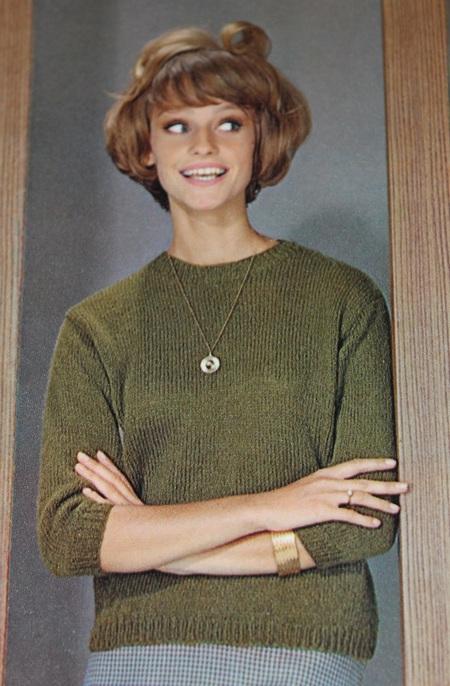 Vintage Knitting Pattern Women S Classic Slipon Sweater 1960 S